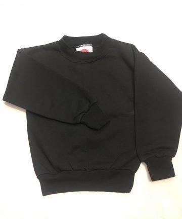 Black Round Neck PE Sweatshirt