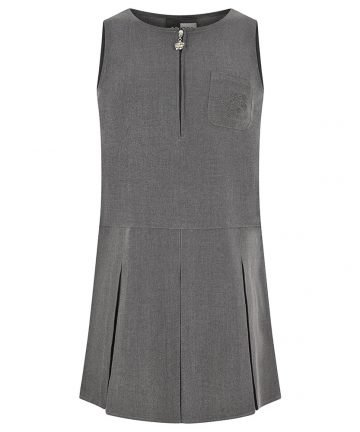 Grey Embroidery Pinafore