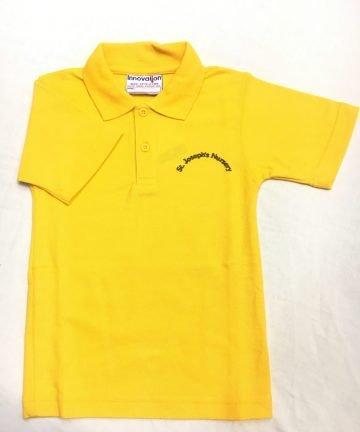 St Josephs Yellow Polo shirt